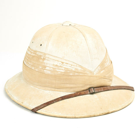 Original Pre-WWII British Officer Pith Helmet by Hawkes & Co Saville Row London Original Items