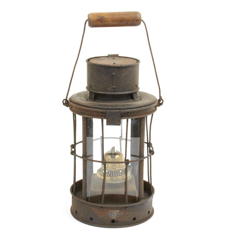 Original British WWI Trench Oil Lantern - Dated 1916