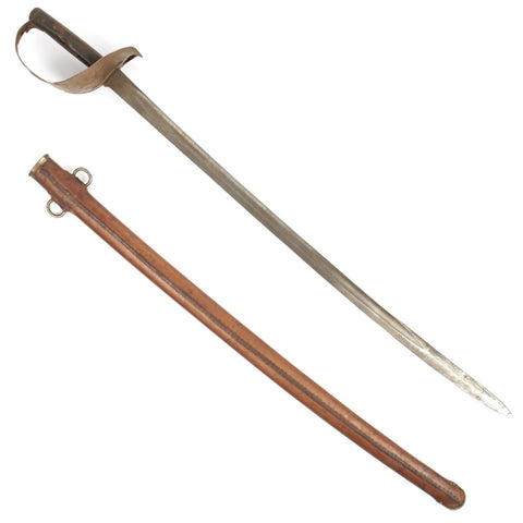 Original British P-1899 Cavalry Sword with Rare Leather Covered Scabbard by Wilkinson Dated 1901