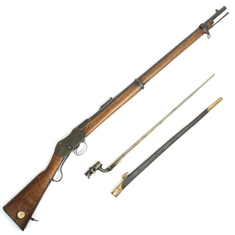 Original .303 British P-1871 Martini-Henry MkII Rifle Conversion with Bayonet and Scabbard - 1874 Enfield