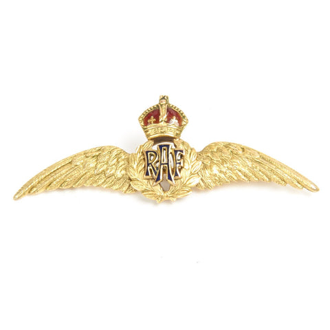 Original WWII British RAF Regimental Gold Sweetheart Brooch