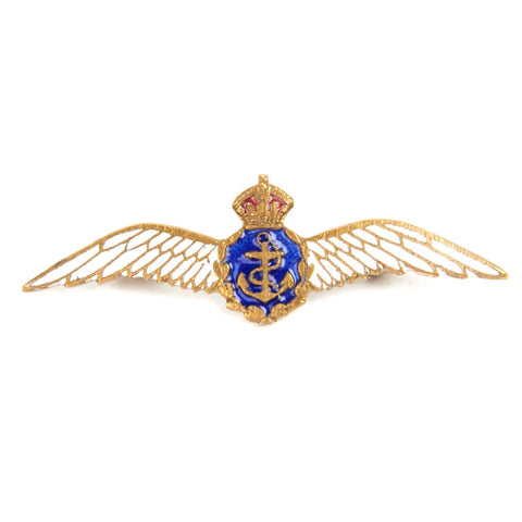 Original WWII British Royal Naval Air Service Regimental Sterling Silver Sweetheart Brooch Original Items