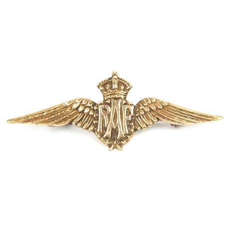 Original WWI British Royal Air Force Sterling Silver Tie/Lapel Pin