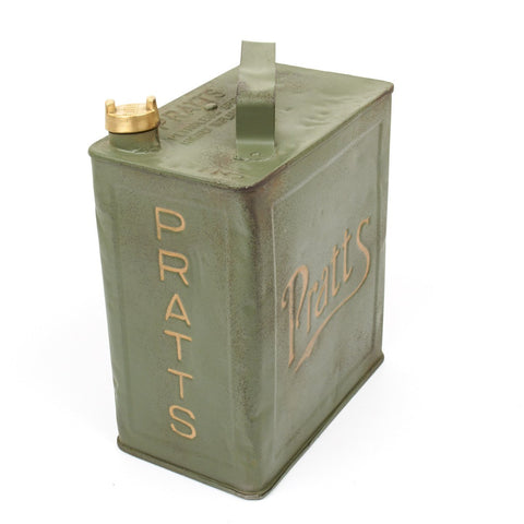 Original British Pre-WWII 1930 Dated Vickers Machine Gun Water Can by Pratt - Petrol 2 Gallons