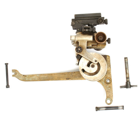Original British WWII Vickers Machine Gun Dial Sight with Bronze Mounting Bracket and Attachment Pins