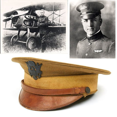 U.S. WWI Aviator Fighter Ace Frank Luke Jr. Named Visor Cap - Medal of Honor Recipient Original Items
