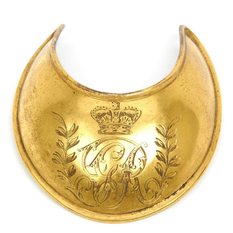 Original British P-1796 Officer Flame Gilt Copper Gorget
