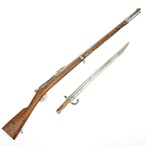 Original French Model 1866 Chassepot Needle Fire Rifle with Bayonet
