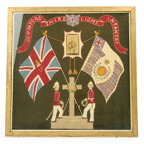 Original British Military Tapestry of the 52nd Oxfordshire Light Infantry 1886-1887