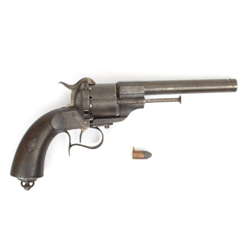 Original U.S. Civil War French M1854 Lefaucheux Cavalry Model 12mm Pinfire Revolver with Round Original Items