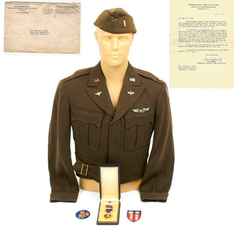 U.S. WWII Army Air Force Flying Tigers Named Uniform Set with Carl Spaatz Signed Determination of Death Letter