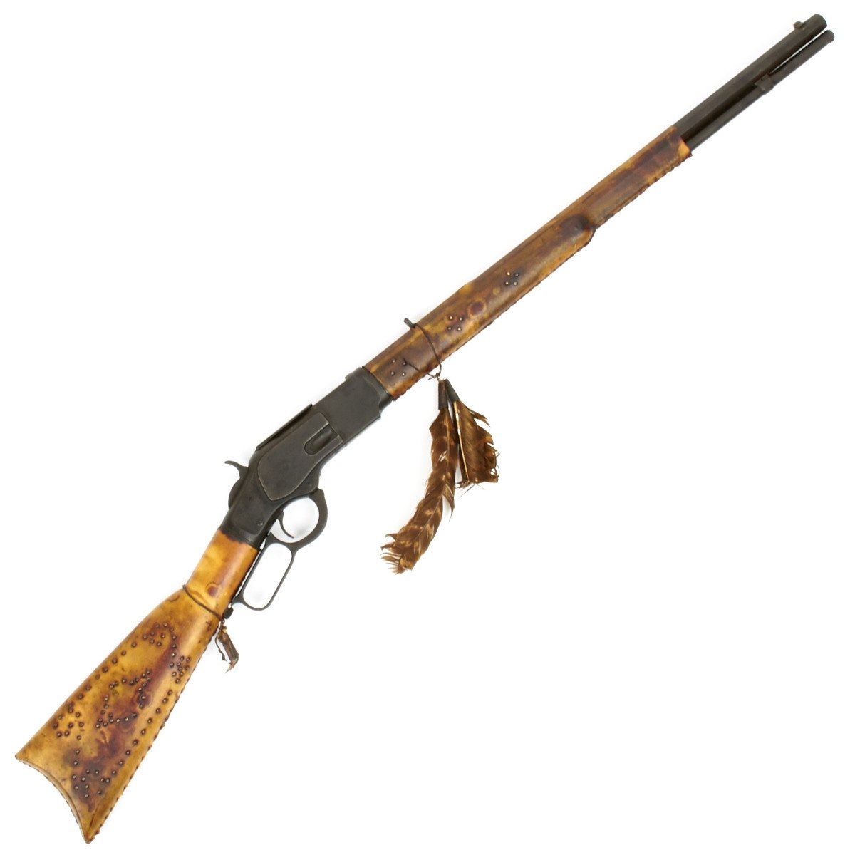 Original Indian Crow Tribe Winchester Model 1873 32 20 Rifle With