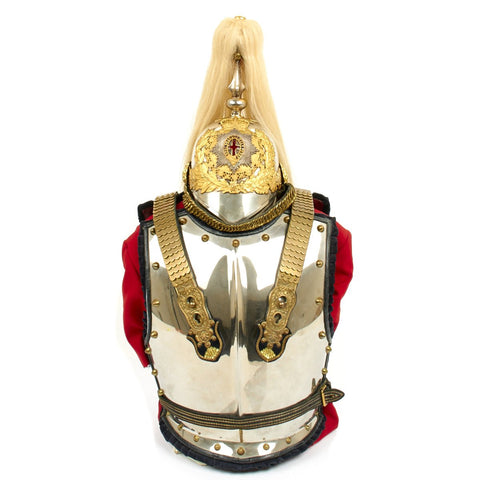 Original British Household Cavalry Named Life Guards Officer Cuirass and Helmet Set