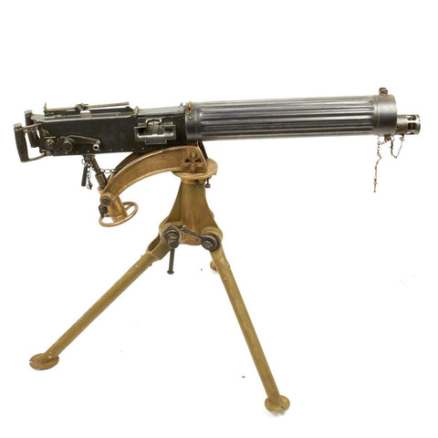 Original British WWI Fluted Vickers Display Machine Gun with Tripod