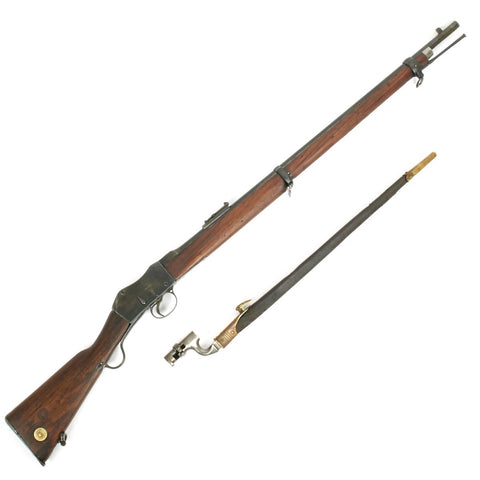 Original British LSA Co Martini-Henry 1881 MkIII Rifle .303 Conversion with Socket Bayonet