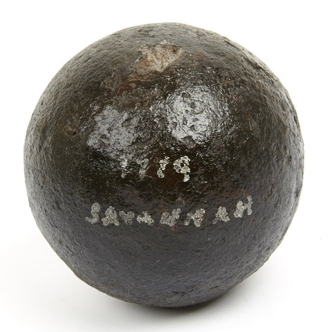 Original American Revolutionary War 12Lb Cannon Ball Recovered from The Siege Of Savannah