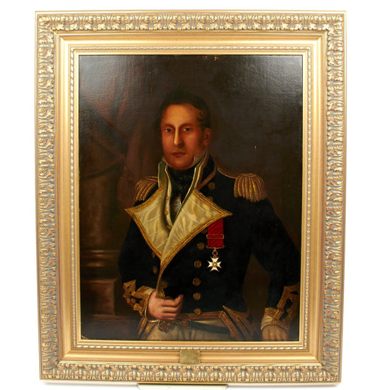 Original English Period Oil Painting of Rear Admiral of the White - Lord William Fitzroy KCB 1782-1857