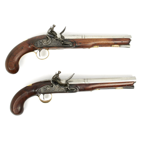 Original British Pair of Flintlock Officer Pistols by John Jones & Son - Circa 1815 Original Items