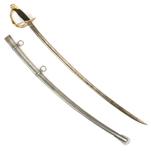 Original U.S. Civil War Model 1860 Light Cavalry Saber with Scabbard by Ames Dated 1865 Original Items