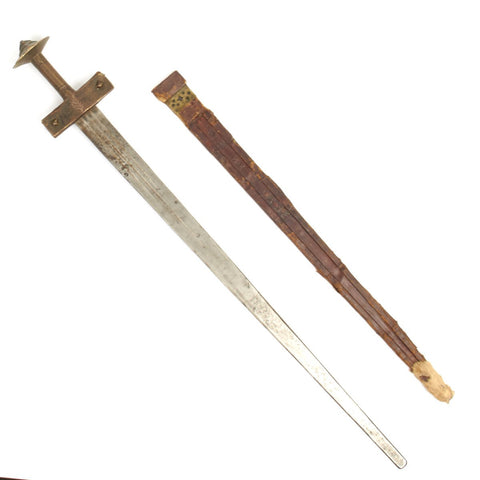 Original 1880 North African Mahdi Broadsword Kaskara or Takooba with Scabbard