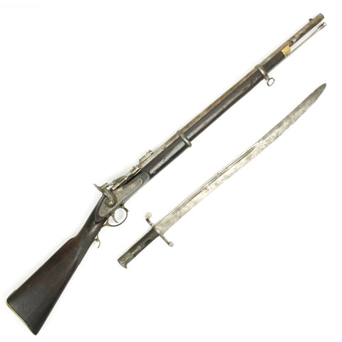 Original British P-1864 Snider type Breech Loading Artillery Rifle with P-56 Saber Bayonet