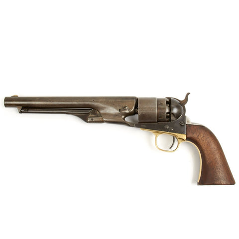 Original U.S. Civil War Colt Model 1860 Army Revolver Manufactured in 1863 - Matching Serial No 114050