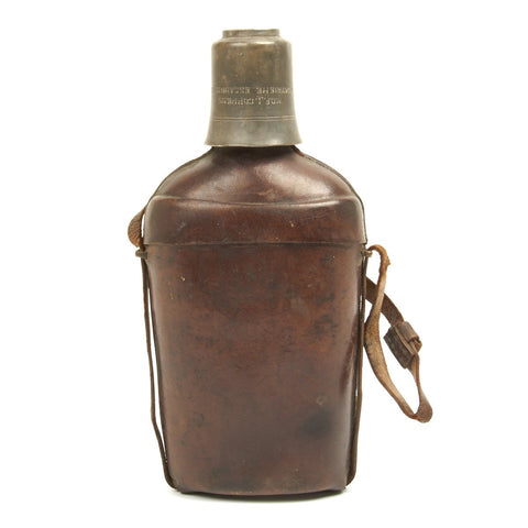 Original Belgian WWI Air Ace Named Spirit Flask Original Items