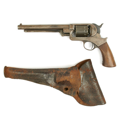 Original U.S. Civil War Starr Arms Co. 1863 Single Action .44 Caliber Percussion Army Revolver with Holster- Matching Serial No 30629