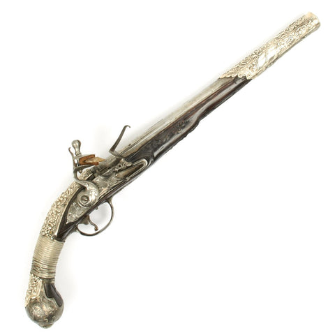 Original Early 18th Century Italian Signed Flintlock Pistol Ottoman Empire Capture