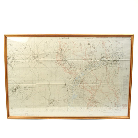 Original British WWI Trench Map Battle of Somme Beaumont-Hamel August 1916