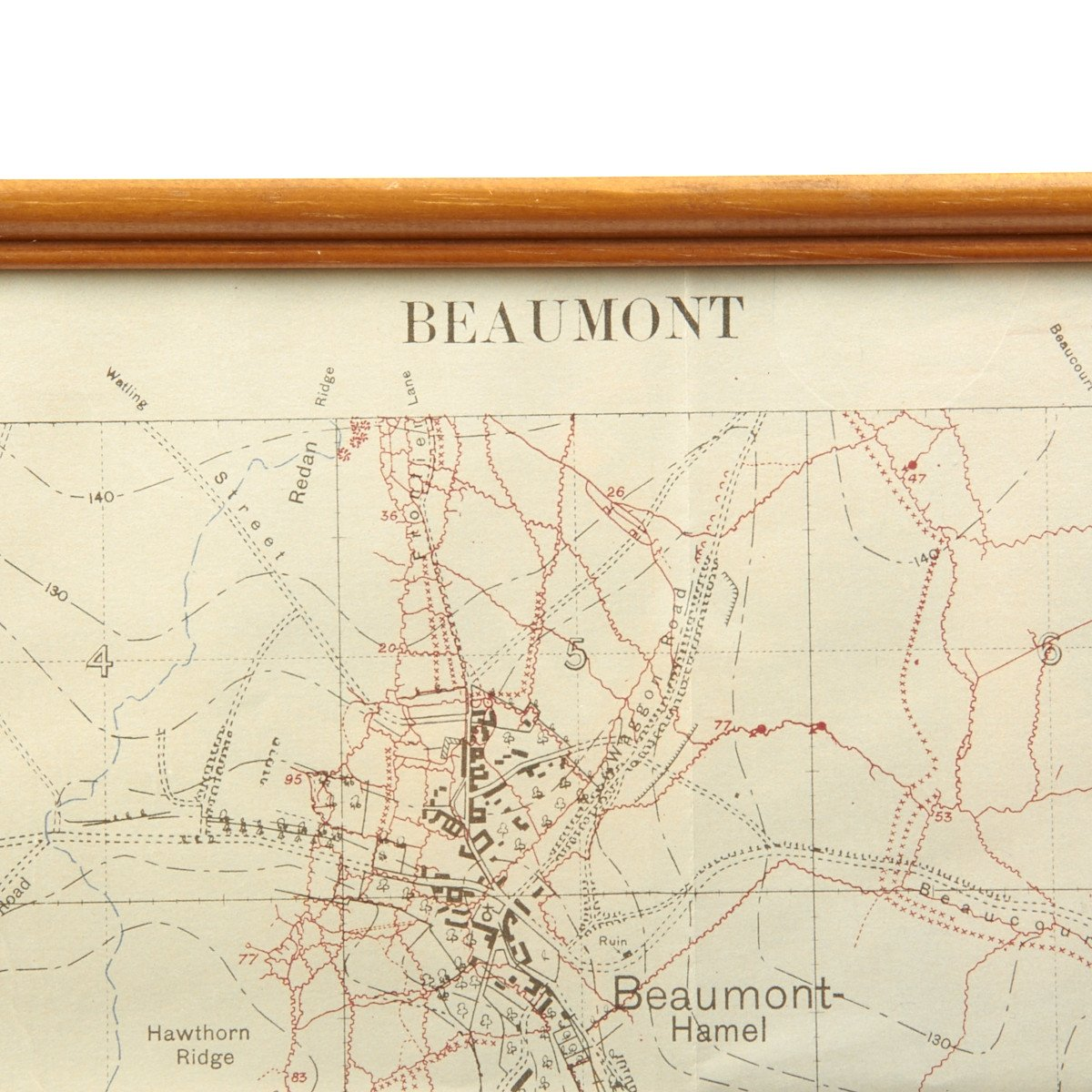 Original British WWI Trench Map Battle of Somme Beaumont ...