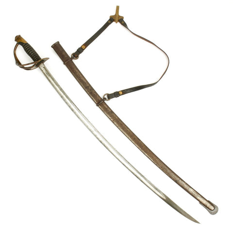 Original U.S. Civil War Model 1860 Light Cavalry Saber with Scabbard and Hangers by Ames - Dated 1864