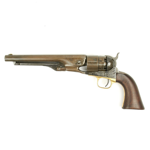 Original U.S. Civil War Colt Model 1860 Army Revolver Manufactured in 1862 - Matching Serial No 27996