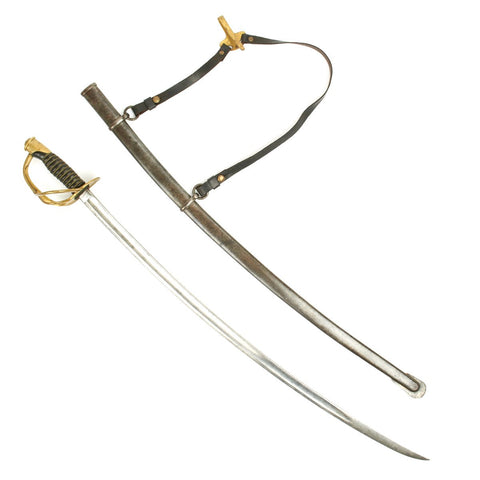 Original U.S. Civil War Model 1860 Light Cavalry Saber by Emerson & Silver with Scabbard and Hangers - Dated 1864