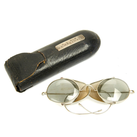 Original 19th Century U.S. Marshall Named Eyeglasses in Case