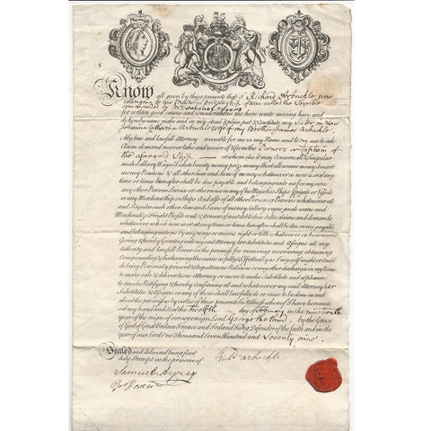 Original British 1779 Naval Document of Privateer Pirate Ship – THE TERRIBLE