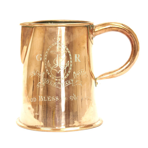 Original British HMS Acasta Naval Copper Pitcher Circa 1800 Original Items