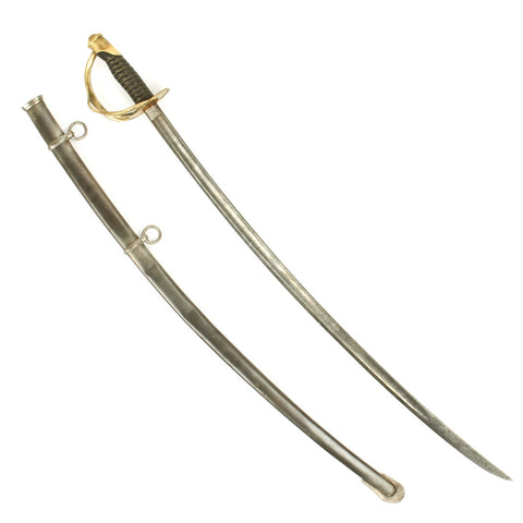 Original U.S. Civil War Model 1860 Light Cavalry Saber with Scabbard by Mansfield and Lamb - Dated 1864 Original Items