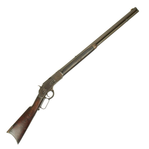Original U.S. Winchester 1873 .44-40 Octagon Barrel Checkered Stock Rifle Manufactured in 1878 with Factory Letter