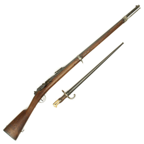 Original French Fusil Gras Modèle 1874 M80 with Bayonet - Matching Serial Numbers