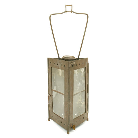 Original French WWI Collapsible Trench Candle Lantern