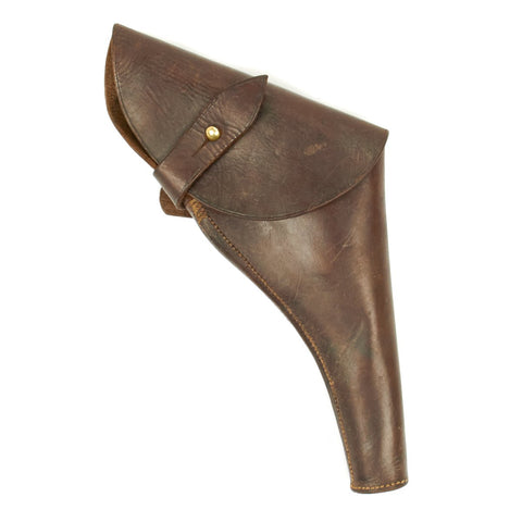 Original British WWI Officer's .455 Webley Revolver Leather Holster by H.G.R. - Dated 1916