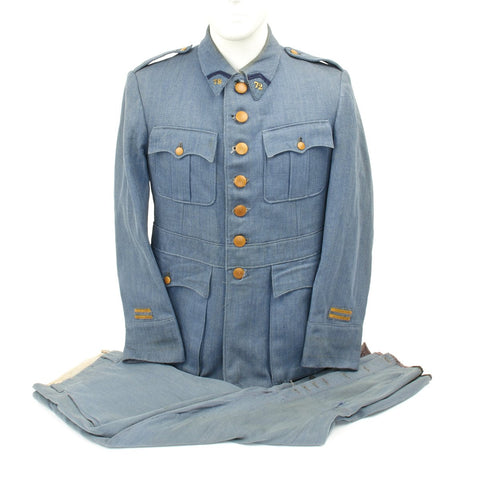 Original French WWI Pattern 1915 Horizon Blue 72nd Infantry Division Uniform Original Items