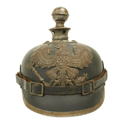 Original German WWI Prussian M1915 Pickelhaube Artillery Helmet - Dated 1916