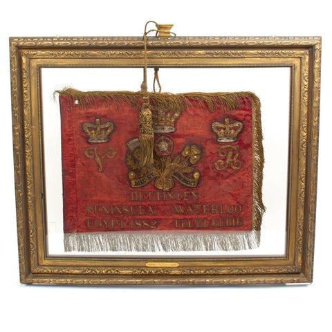 Original British 1883 Lifeguard Union Standard Flag in Double Sided Frame