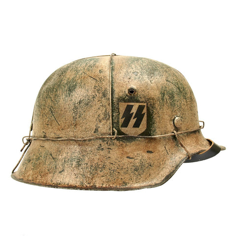 Original German WWII M42 Refurbished Operation Winter Storm Helmet  - Stamped hkp64