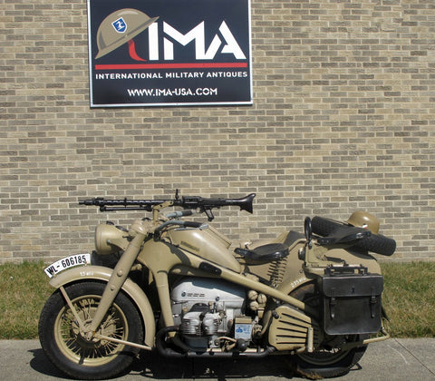 Original German WWII 1942 Zündapp KS 750 Motorcycle and Sidecar- Matched Serial Numbers