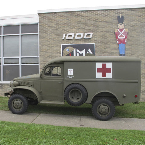 Original 1941 U.S. WWII Dodge WC27 Half-Ton 4x4 Ambulance from The National Museum of the U.S. Air Force
