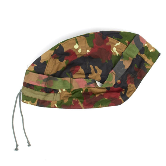 Original Warsaw Pact Steel Helmet Cover- Swiss Pattern Camouflage