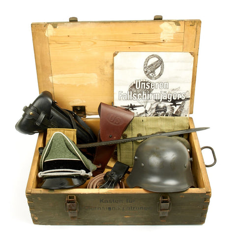 Trunk of Assorted Grade 2 Original Military Antiques and Reproductions